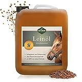 Martenbrown® Premium Leinöl für Pferde, Hunde und andere Tiere   im XXL-Kanister [5 Liter]  ...