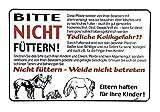 Hinweisschild - Pferde bitte nicht füttern - 308626 - Gr. ca. 30cm x 20cm - Landwirtschaft Tiere...