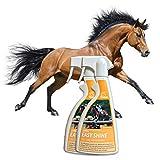 Mähnenspray für Pferde I Schweifspray I Fellspray Fellpflege I Glanzspray I Entfilzungsspray I...