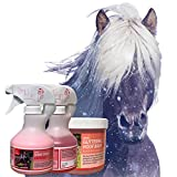 EMMA® Glitzerspray Pferde I Mähnenspray für Pferde I Glitzer Huffett pink & Duft I Glanzspray I...