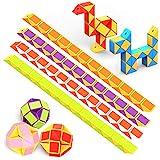 WEARXI Mitgebsel Kindergeburtstag - 12er 24 Blöcke Magische Schlange Spielzeug Give Aways...