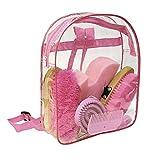 Kerbl Kinderrucksack mit Putzzeug für das Pferd, Putzrucksack, Putzbox, 6–teilig -Pink-