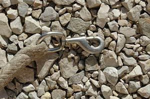 Der Haken macht den Unterschied zwischen Anbinde- und Führstrick