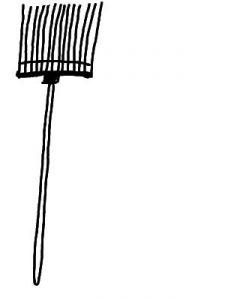 Eine Spänegabel