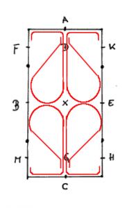 Die Quadrillenfigur Kleeblatt
