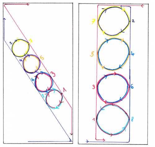Der Rosengarten - diagonal und gerade
