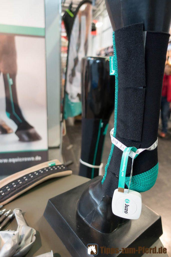 Bei dicken Beinen können dem Pferd spezielle Kompressionsstrümpfe helfen.