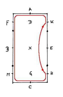 Die Einfache Schlangelinie im 40er Viereck