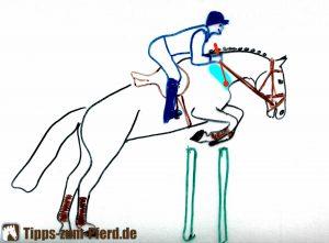 Die richtige Stelle, um das Pferd am Hals anzuticken.